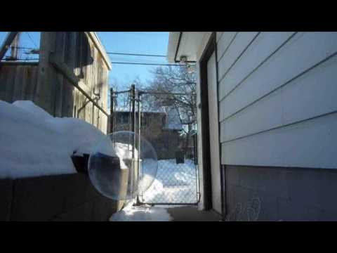 Soap Bubbles freeze and shatter at -15 F