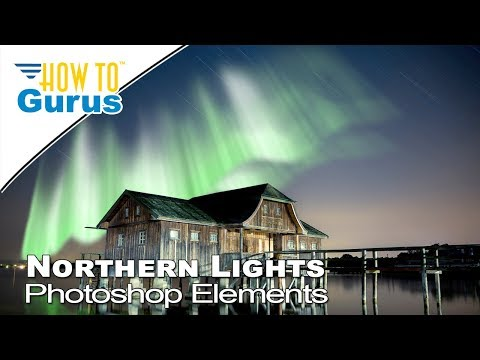 How to Make Aurora Borealis Northern Lights Adobe Photoshop Elements 2018 15 14 13 12 11 Tutorial