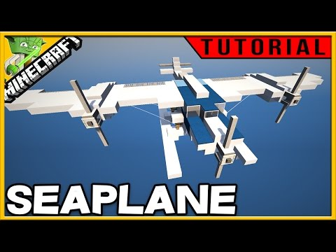 Minecraft Seaplane Tutorial - build along easy!