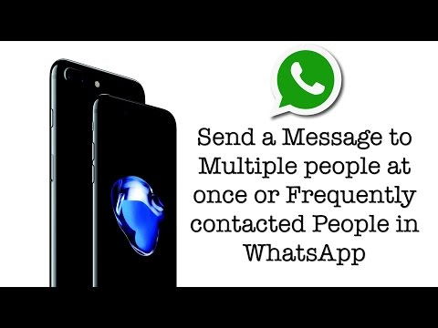 WhatsApp Send a message to Multiple or Frequent contacts on iPhone