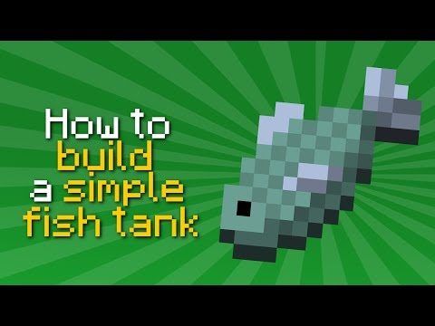 ✗ Minecraft: How to build a simple fish tank | Tutorial