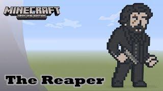 minecraft pixel art tutorial and showcase the reaper aka john wick fortnite battle - pixel art minecraft skin fortnite