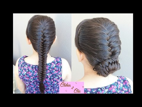 French Fishtail Braid (Updo) -2 Options!! | Bun Hairstyles | Braided Hairstyles