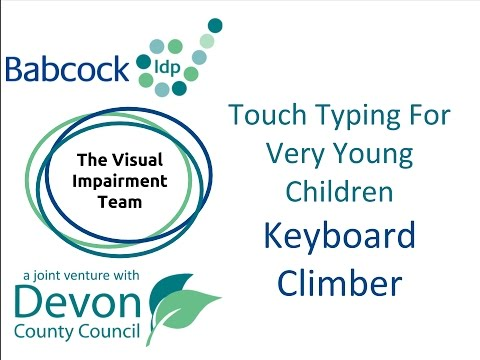 Touch Typing for Very Young Children- Keyboard Climber