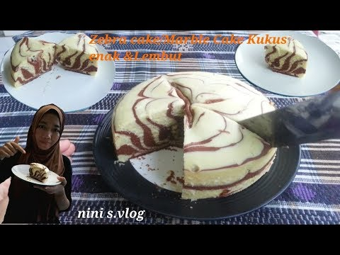 Bolu zebra #Zebra cake/marble cake kukus simple fluffy lembut &enak