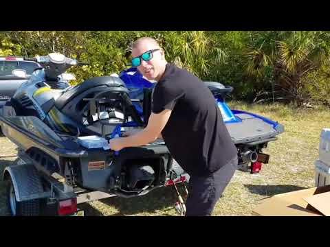 Kool PWC Stuff Jet Ski Fishing & Cooler Rack Installation Video