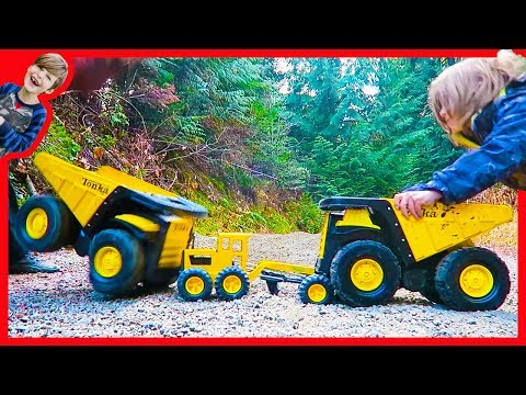 Toy Construction Trucks For Kids Tonka - Tough Compilation