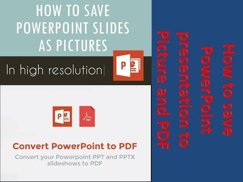 How to save PowerPoint presentation to Picture and PDF