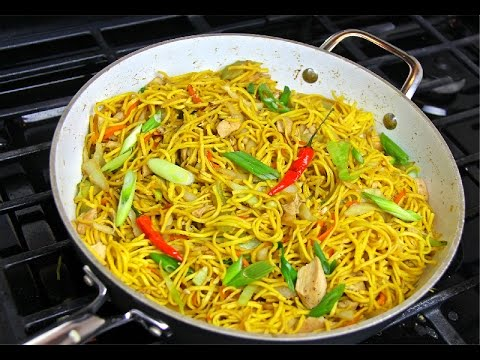 Jerk Chicken Noodle Stir Fry Recipe.