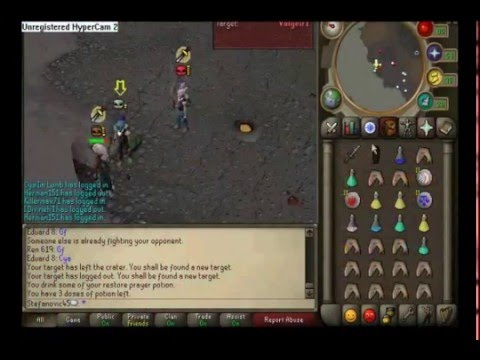 stefanovic45 runescape new PvP/ Bh vid High loot (PART 1)ags