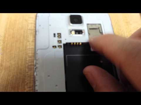 SAMSUNG GALAXY S5: HOW TO INSERT & REMOVE SIM CARD
