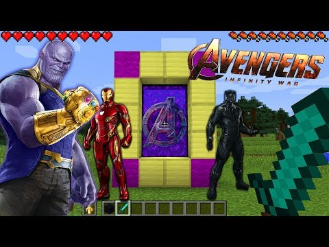 HOW TO MAKE A PORTAL TO THE AVENGERS INFINITY WAR DIMENSION - MINECRAFT AVENGERS INFINITY WAR
