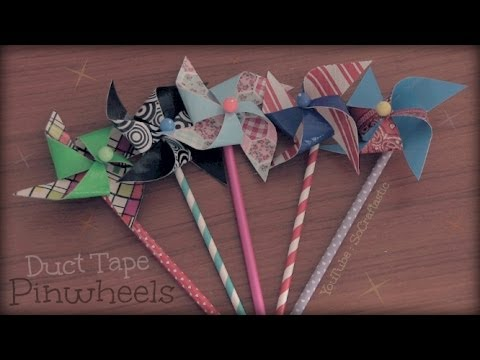 DIY DUCT TAPE PINWHEEL - How To - Summer Crafts| SoCraftastic