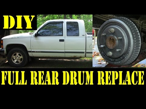 1995 Chevy K1500 Complete rear drum brakes replacement 4x4