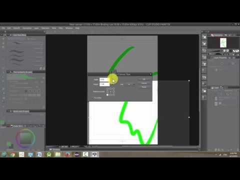 Manga Studio 5 / Clip Studio Paint: Canvas Size and Image Resolution