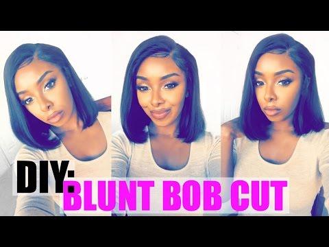 DIY: Blunt Bob Cut Wig With A Glue Gun & Clippers
