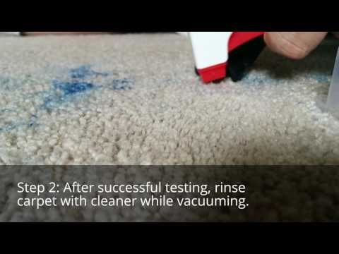 How we removed blue colored pencil from carpet
