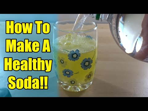 HOW TO MAKE A HEALTHY SODA DRINK!!!!!
