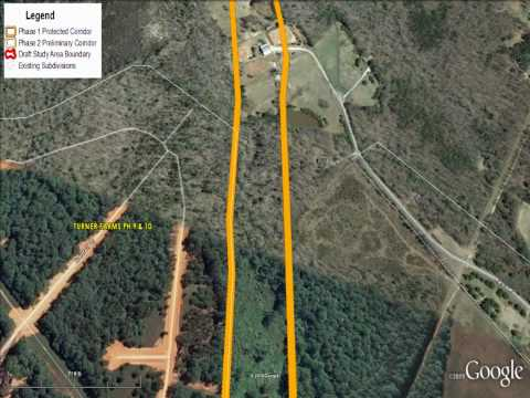 Proposed I-540 (Wake County NC) Extension Google Earth Flyover