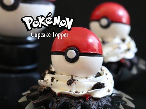 How to Make Pokémon (Pokéball) Cupcake Toppers
