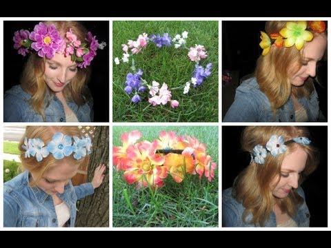 ❀ 6 DIY Flower Headbands ❀