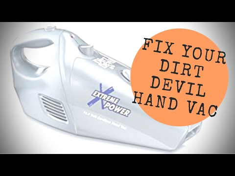 Dirt Devil Extreme Power: Repair and Battery Life details on the M0914 cordless hand vacuum