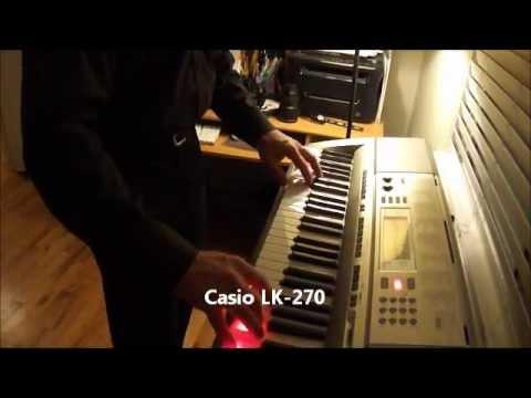Bentley plays the Casio LK-270