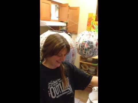 Making of the Yogo Head Disco Ball Pinata's for New Year's Bash 2013/2014