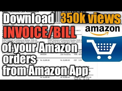 How to download invoice of your orders from amazon app