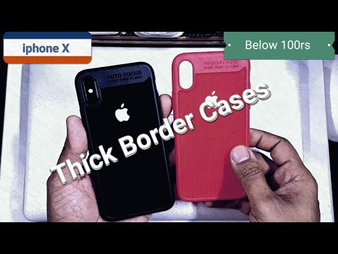 iphone X Thick Border Back Covers