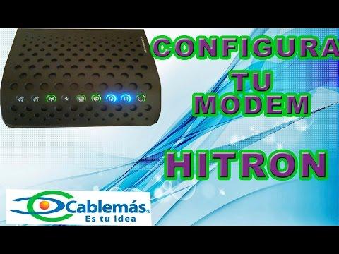 configuracion completa nombre y contraseña modem hitron cablemas