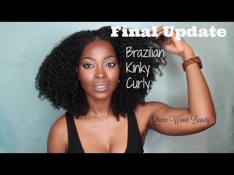 Queen Weave Beauty Brazilian Kinky Curly Final Update: Great Natural Hair protective style
