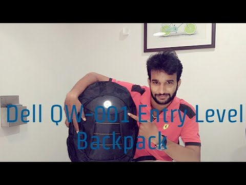 Unboxing Dell QW-001 Entry Level Backpack Black design for DELL 15.6