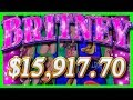 1591770 JACKPOT HAND PAY On Britney Slot Machine Britney Spears TOXIC WINS With SDGuy1234