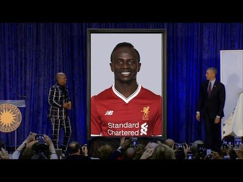 Obama unveils a Sadio Mane portrait
