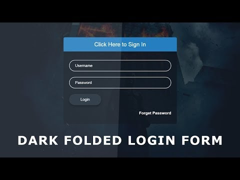 Dark Folded Sign In Form - Css Transparent Login Page - Attractive Login Page Design In Html and CSS