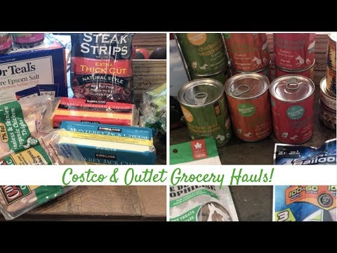 Costco & Outlet Grocery Store Hauls!