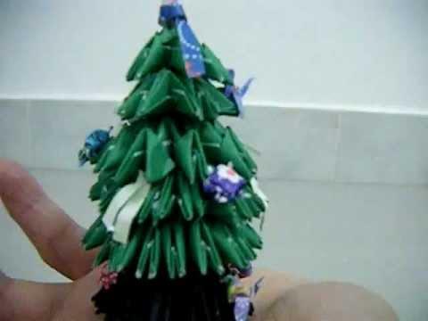 Mini 3D Origami Christmas Tree