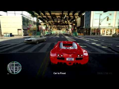 Bugatti Veyron EB 16.4 Supercar maximum speed test  on huge bridge - GTA IV MOD