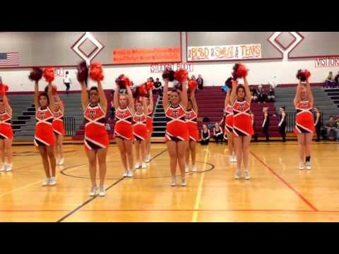 Pom routine- Teton high school cheer team