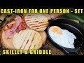 Download Small one person Cast-iron Skillet u0026 Griddle Set for Camping / Bushcraft MP3,3GP,MP4