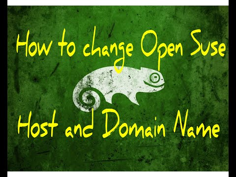 How to change Open Suse Hostname and Domain name
