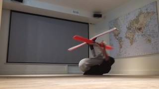 Guy Breakdances while Wearing Snowboard and Skis