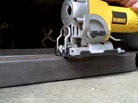 DeWalt Jigsaw Cutting Steel Tubing (like butter)