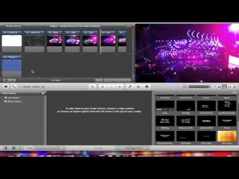 How To: Make a simple video with Pictures & Text on iMovie