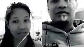 Download Sa Kanya Ogie Alcasid Smule cover by Iron man 28 and Abril... Video