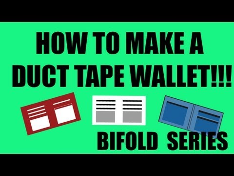 How To Make A Duct Tape Wallet!-- BiFold #1 [HD] TEMPLATE IN DESCRIPTION