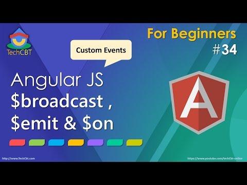 AngularJs: Broadcast, Emit and Custom Events