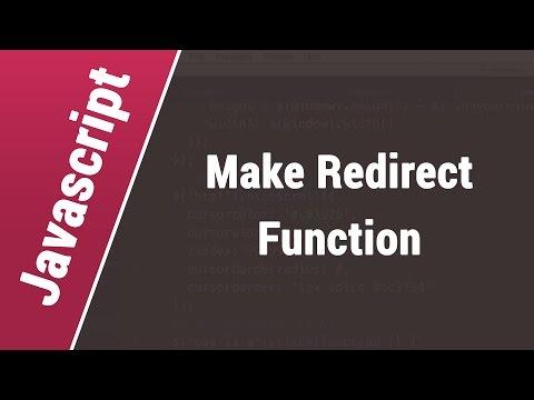 Javascript Arabic Tutorials - Make Redirect Function with Parameter