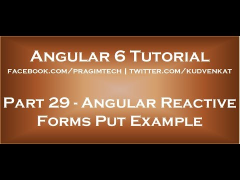 Angular reactive forms put example